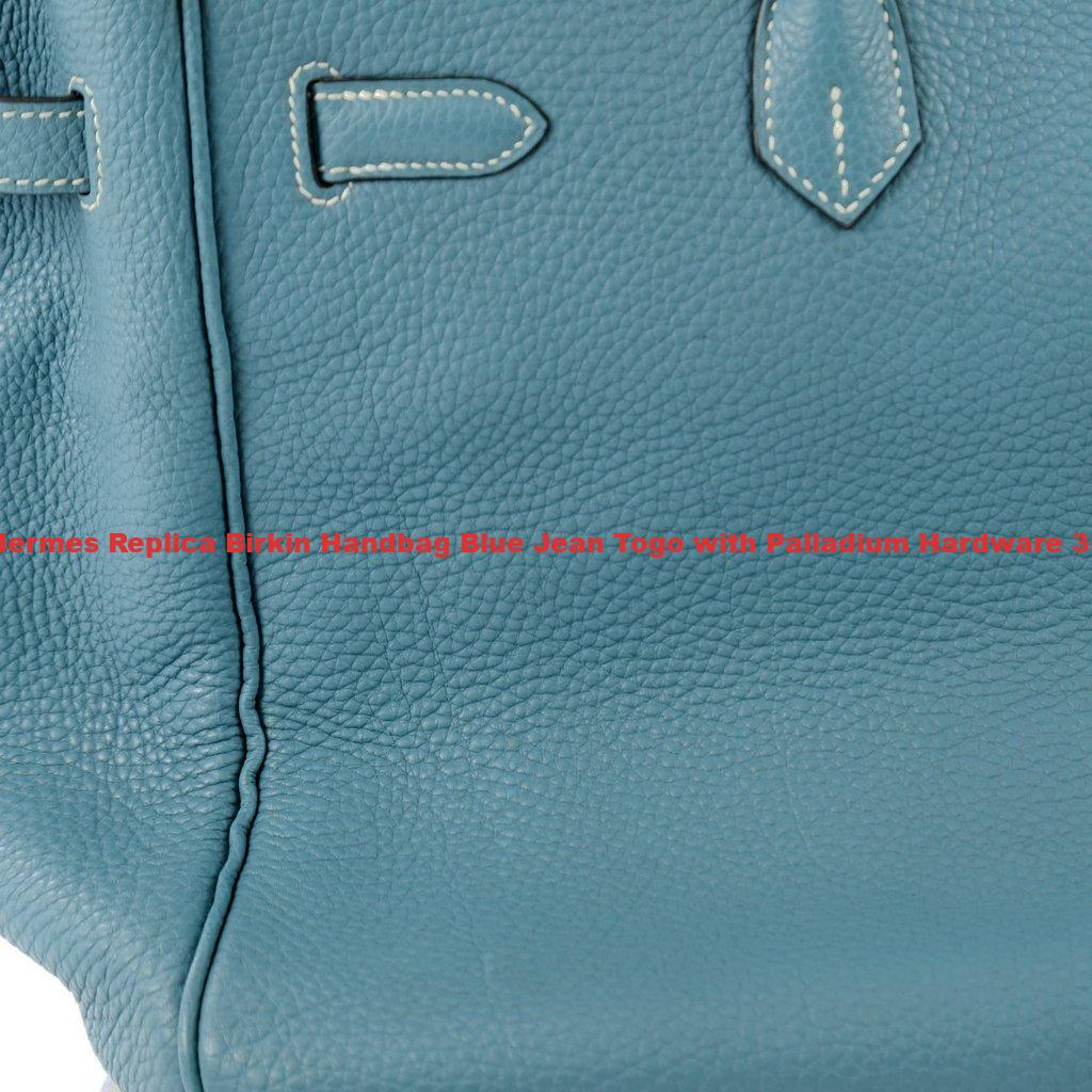 50d71cbd827 Hermes Replica Birkin Handbag Blue Jean Togo with Palladium Hardware ...