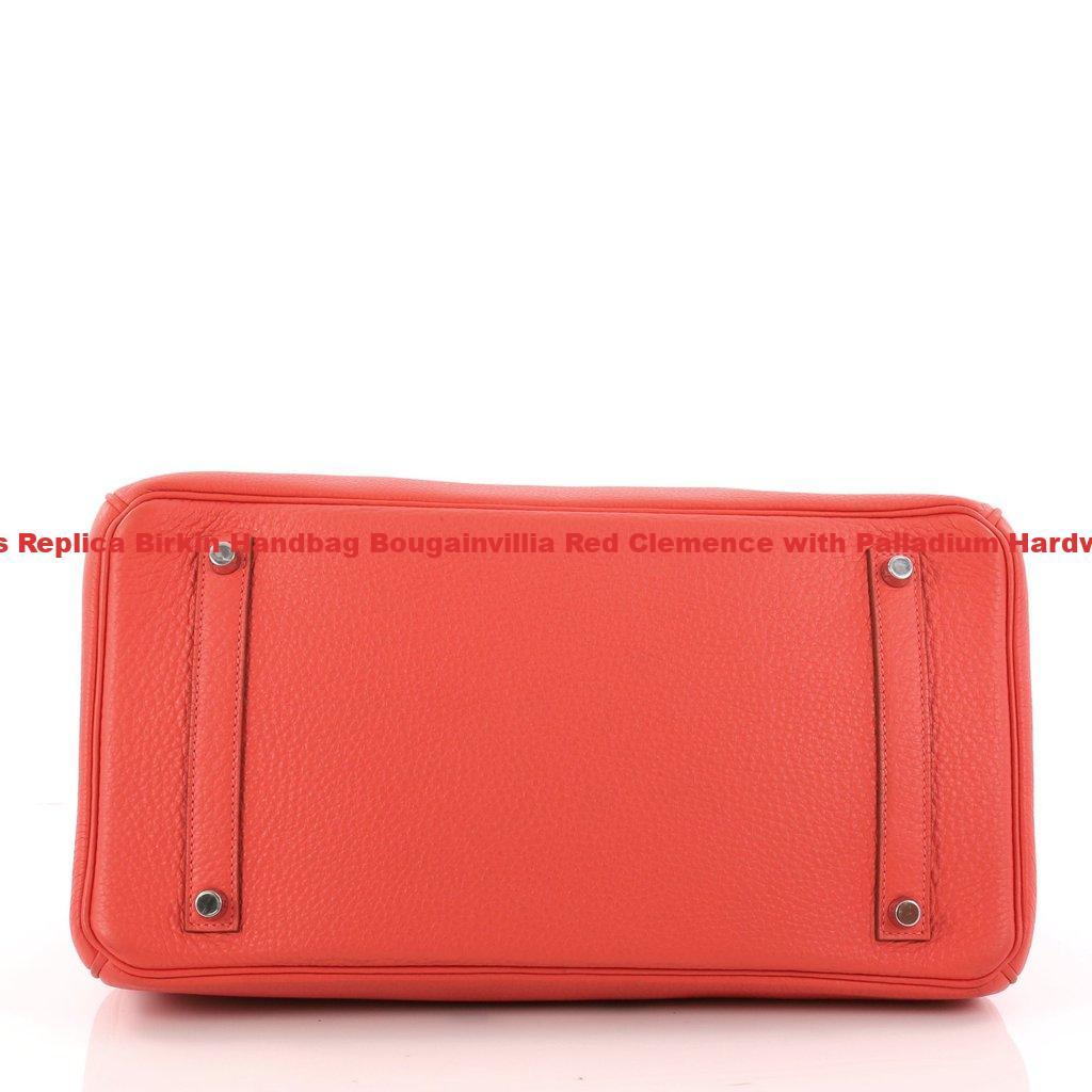 Hermes Replica Birkin Handbag Bougainvillia Red Clemence with Palladium  Hardware 35 518c125824a43