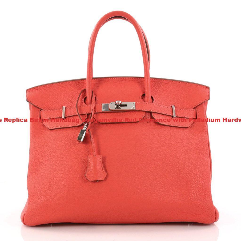 Hermes Replica Birkin Handbag Bougainvillia Red Clemence with Palladium  Hardware 35 13788cb4a8