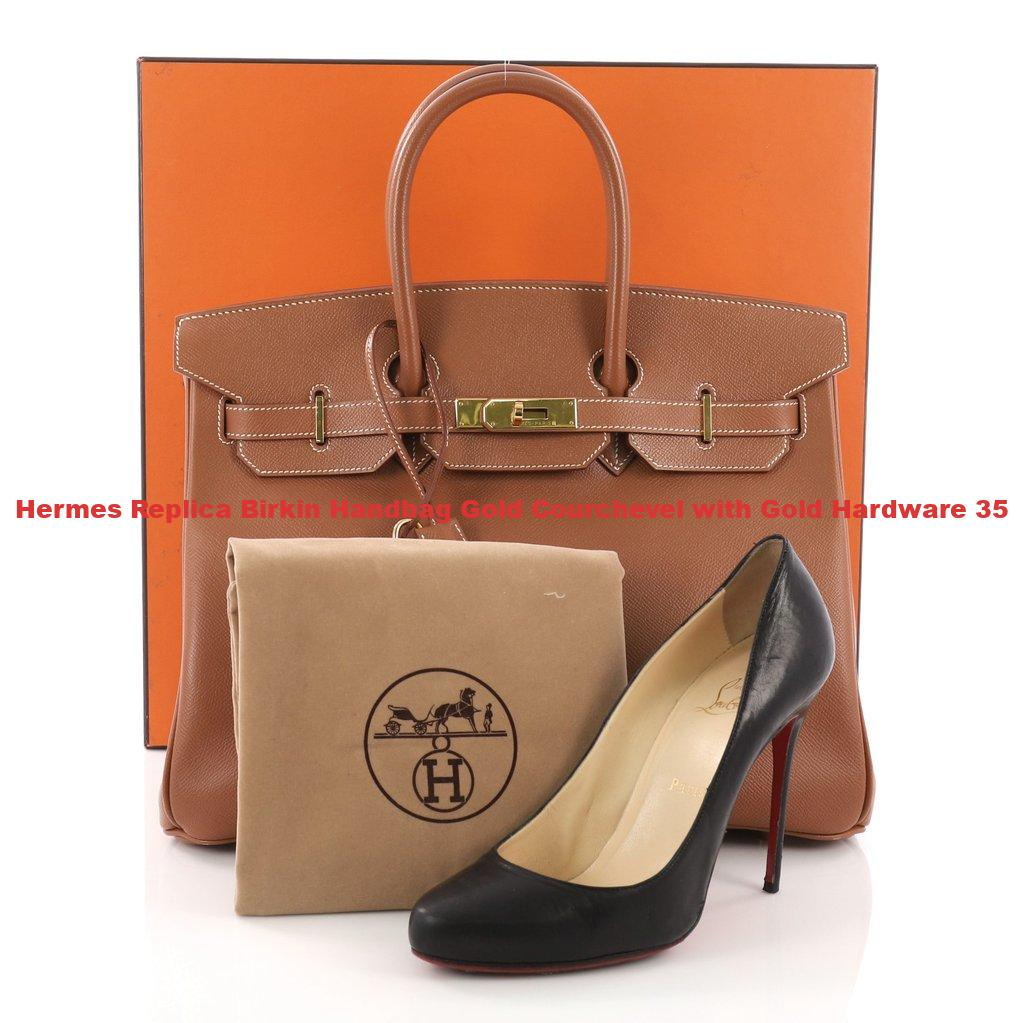 Hermes Replica Birkin Handbag Gold Courchevel with Gold Hardware 35 ... fe890006715e0