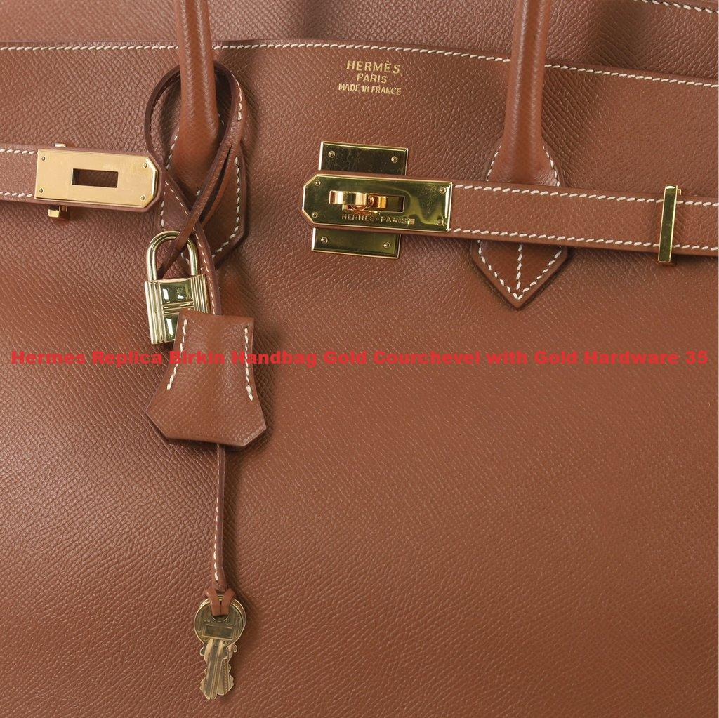 bea990fea7b Hermes Replica Birkin Handbag Gold Courchevel with Gold Hardware 35 ...