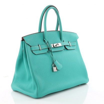 128b2044ea9 Hermes Replica Birkin Handbag Lagon Togo with Palladium Hardware 35 ...
