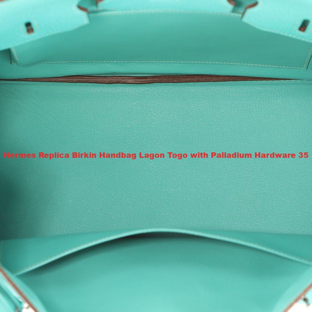 Hermes Replica Birkin Handbag Lagon Togo with Palladium Hardware 35 ... 8f082e9de4382