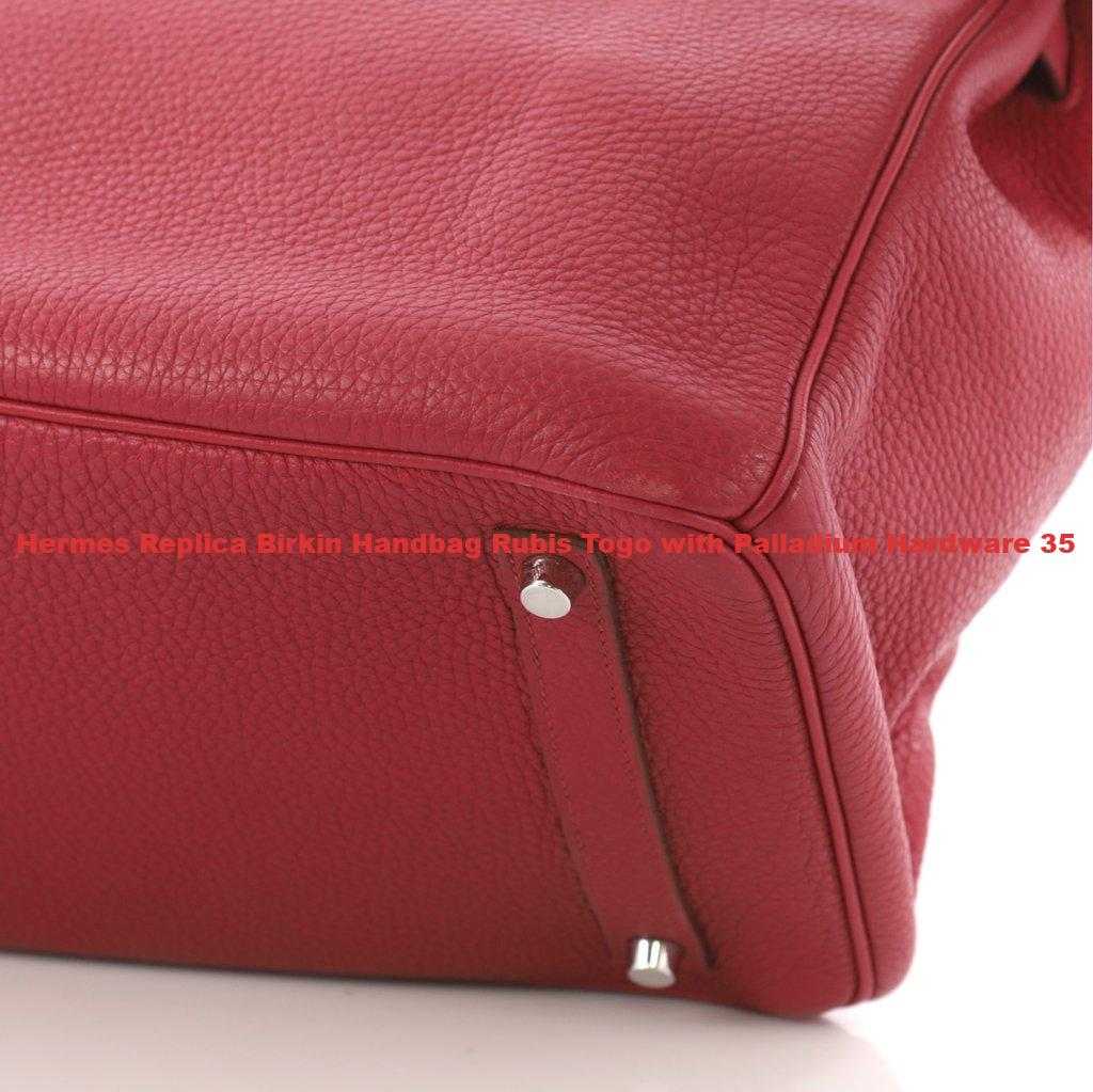ac7c766b9ec8 Hermes Replica Birkin Handbag Rubis Togo with Palladium Hardware 35 ...