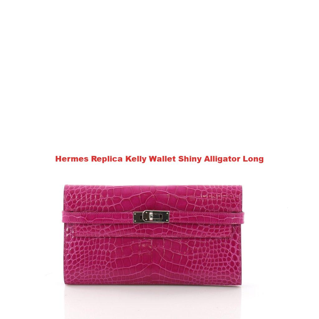 8408e45ea8fb ... hermes replica kelly wallet shiny alligator long best high quality ...