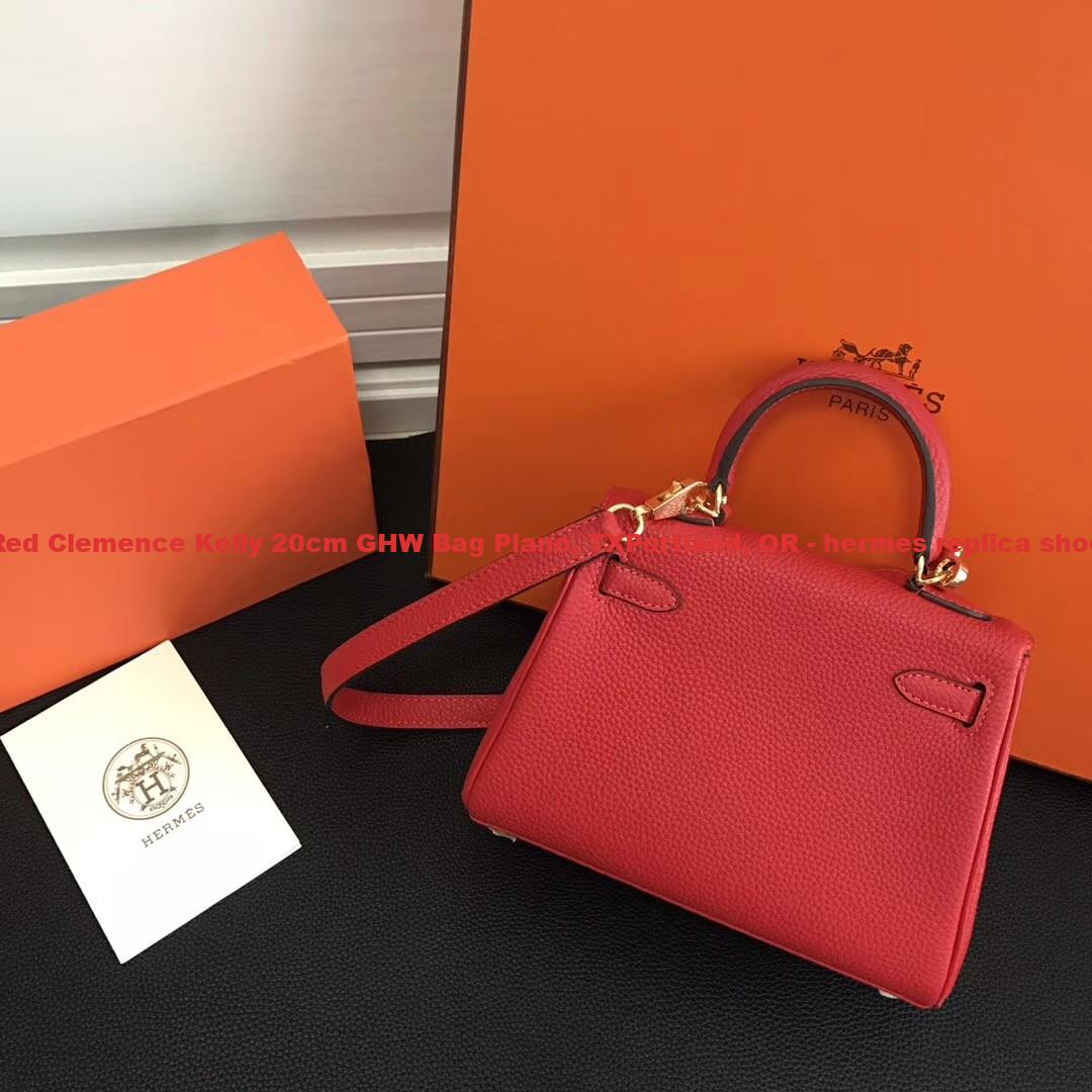 83074008c4ea Canada Hermes Red Clemence Kelly 20cm GHW Bag Plano