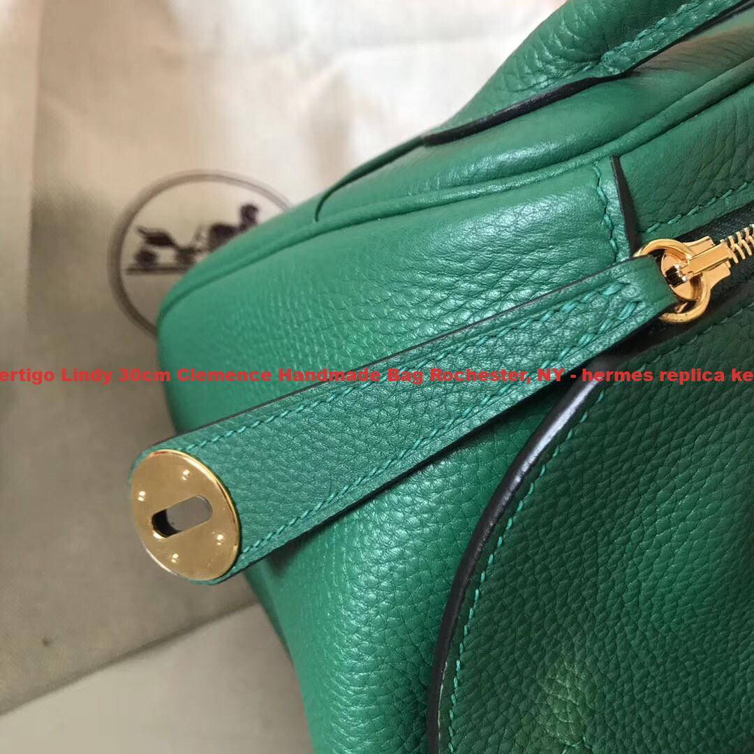 e6692226087 Knockoff Hermes Vert Vertigo Lindy 30cm Clemence Handmade Bag ...