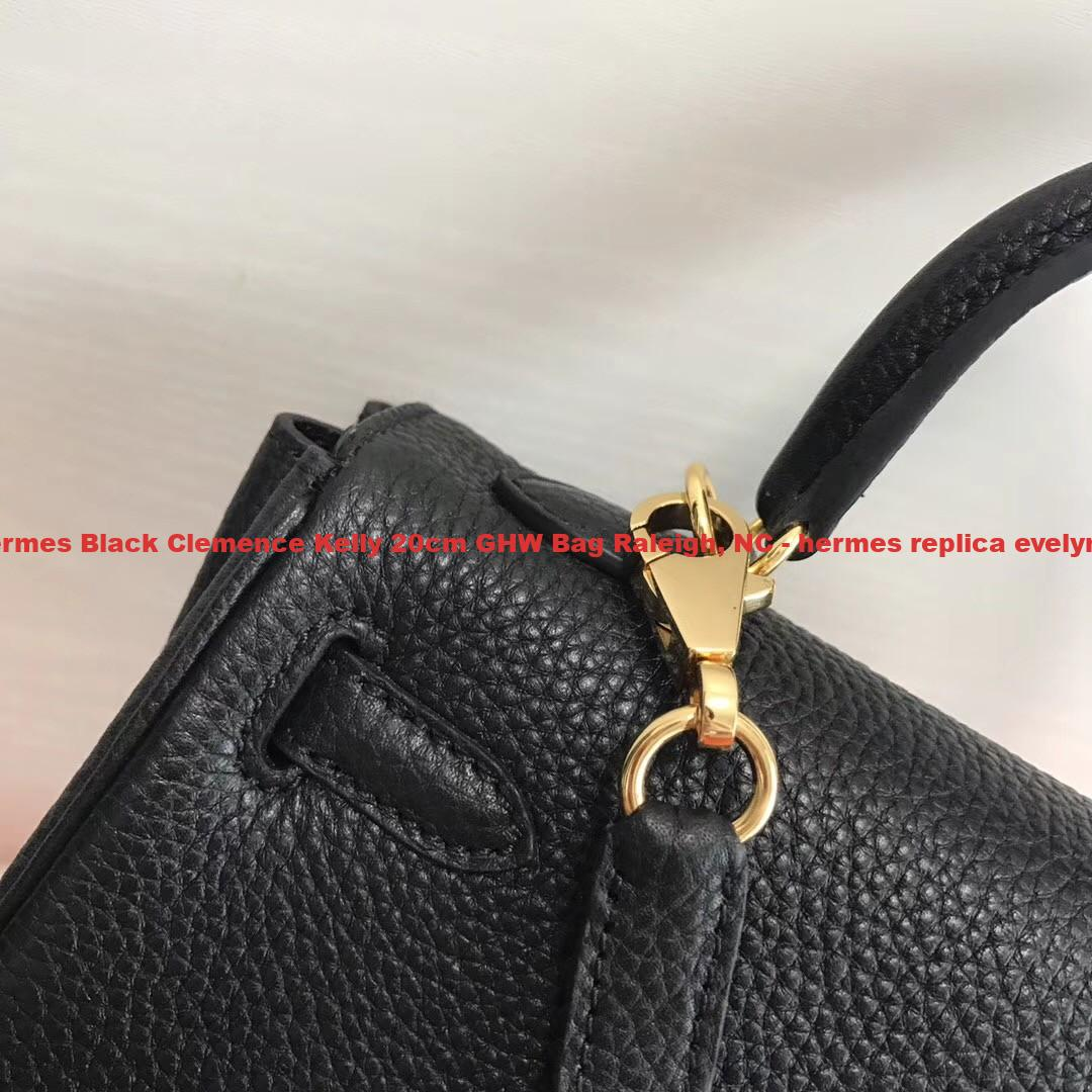 be4e73729aa9 The Best Hermes Black Clemence Kelly 20cm GHW Bag Raleigh
