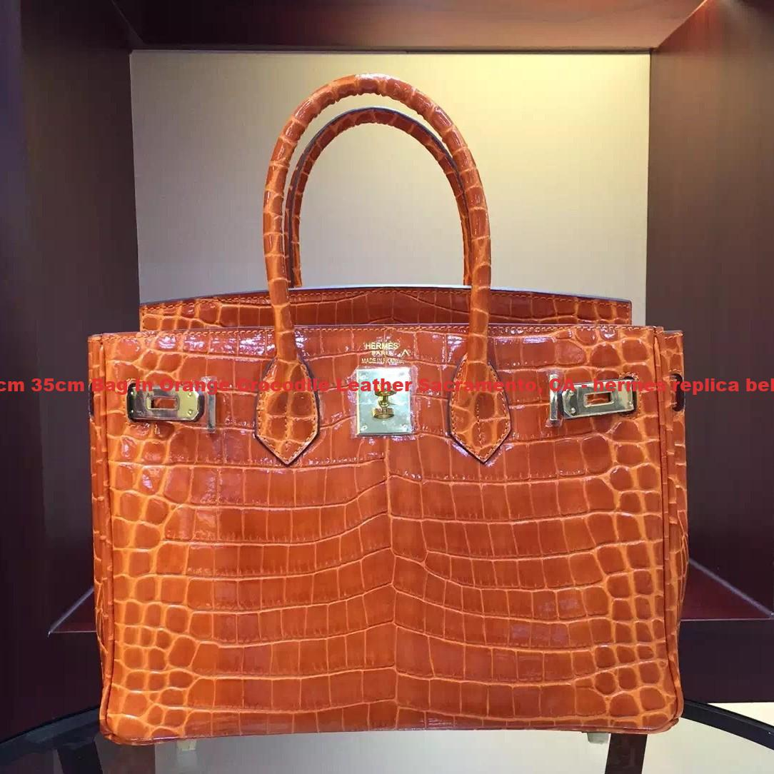 dc24f649e915 UK Hermes Birkin 30cm 35cm Bag In Orange Crocodile Leather ...